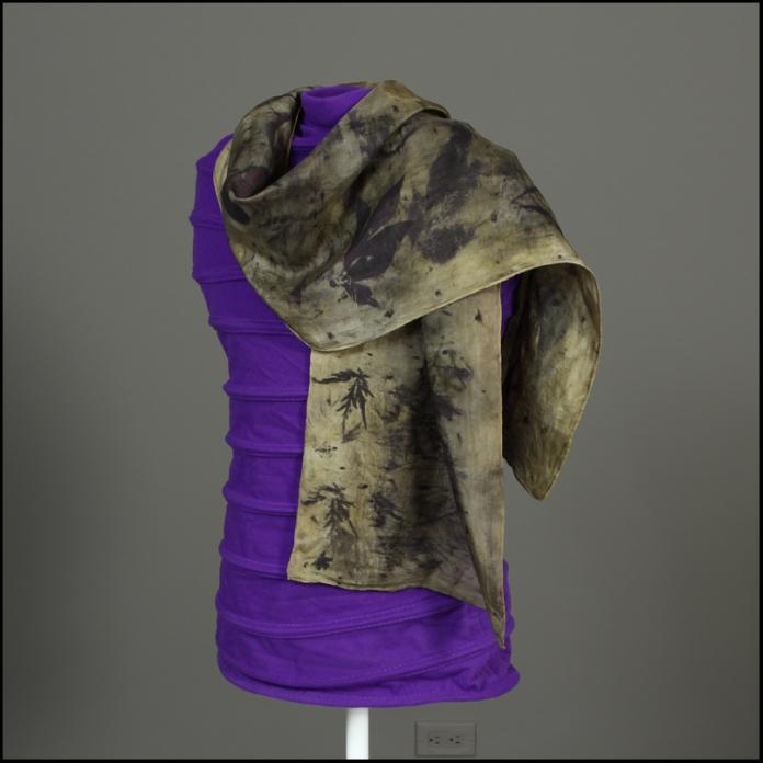 102 scarf eco print detail