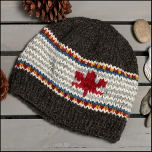 #103 - Adult Hat - hand knit naturally dyed wool - $60.00 (plus $6 shipping)